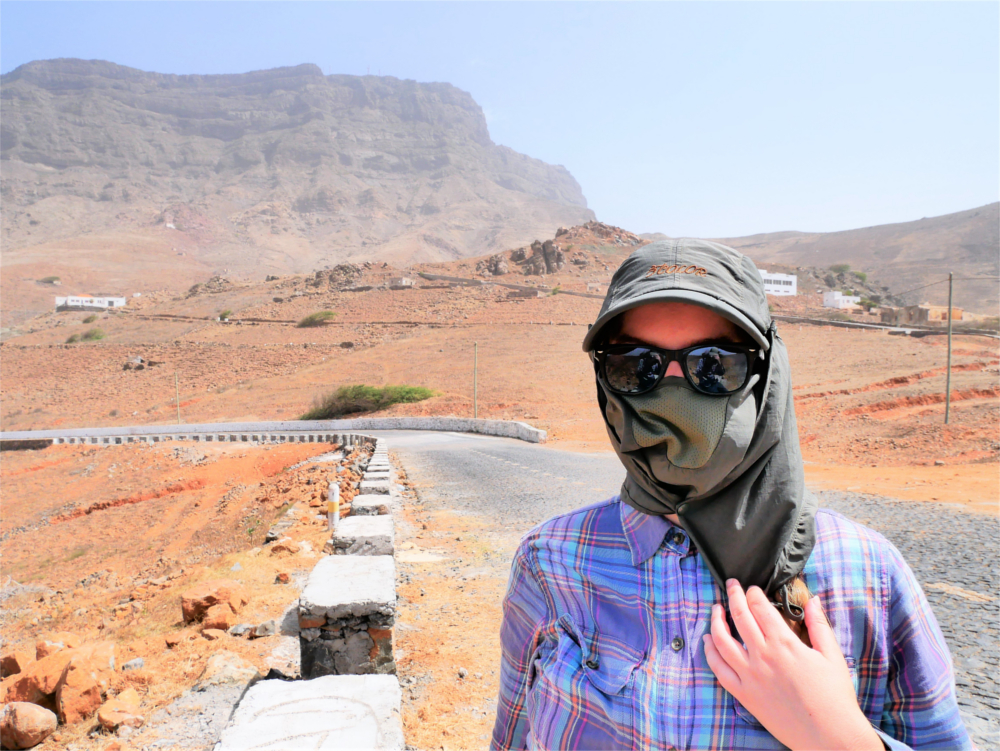 Monte Verde Cabo Verde cape hat dakar rally windy dusty sun protection hiking hitchhiking sunglasses peak mountain