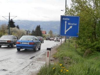 Ilidža Sarajevo hitchhiking Mostar Boračko lake