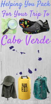 packing list to cabo verde cape verde suitcase travel hitchhiking amazon preparation