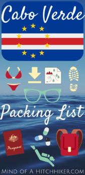 Packing List to Cabo Verde pinterest pin hiking gear outdoor swimming snorkel scuba travel cape verde trip
