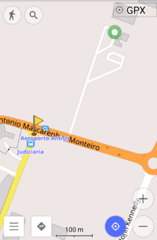 Screen shot open street maps osm and aeroporto antigo praia cabo verde francisco mendes international defunct airport