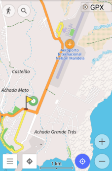 Screen shot open street maps osm and aeroporto antigo praia cabo verde francisco mendes nelson mandela international defunct airport