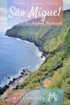 The best way to explore São Miguel island in the Azores is by renting a scooter in Ponta Delgada. #PontaDelgada #Azores #SaoMiguel #islands #Europe #Portugal #scooter #motorbike