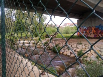 Rottenacker dam wehr weir fish ladder wasserkraftwerk