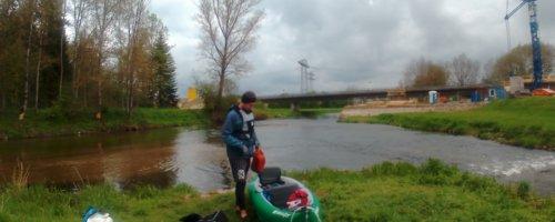 zusammenfluss donau danube confluence inflatable kayak