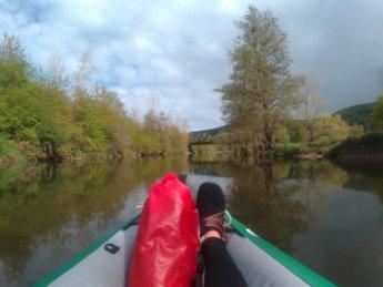 arrival kayak paddle canoe geisingen germany danube donau river
