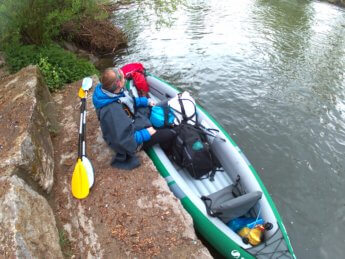 Immendingen entry point kayak and work canoe trip paddle germany