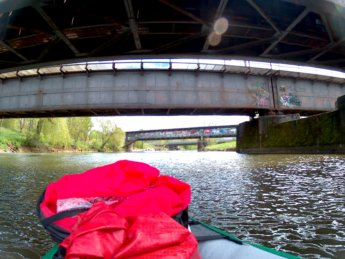 Tuttlingen train bridges germany paddle kayak