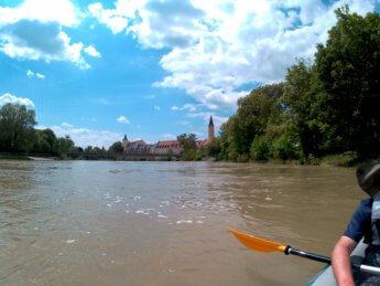 22 Day 9 Günzburg to Dillingen an der Donau Lauingen skyline danube donau