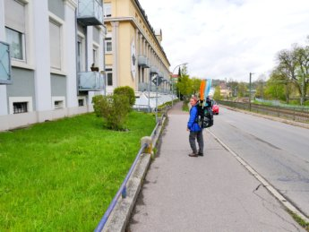 Donaueschingen arrival Wyndham hotel backpack canoe kayak inflatable sevylor adventure plus