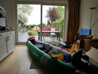 kayak trip inflatable canoe sevylor adventure plus test camping