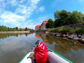 Kayak trip day 7 dettingen to neu-ulm opfingen dam