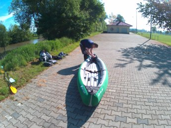 Kayak trip day 7 dettingen to neu-ulm launch spot danube donau