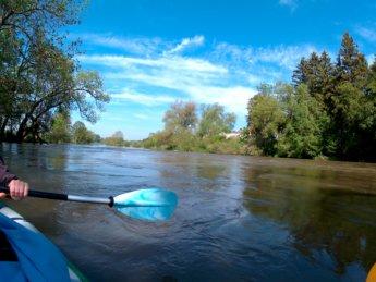 Kayak trip day 7 dettingen to neu-ulm launch spot danube donau sill shallow