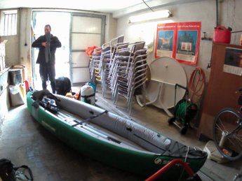 Day 6 Munderkingen garage hotel rose kayak inflatable canoe paddle kayak&work danube donau
