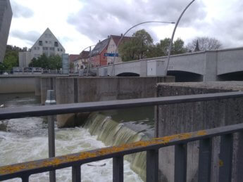 Tuttlingen wehr water drop dam