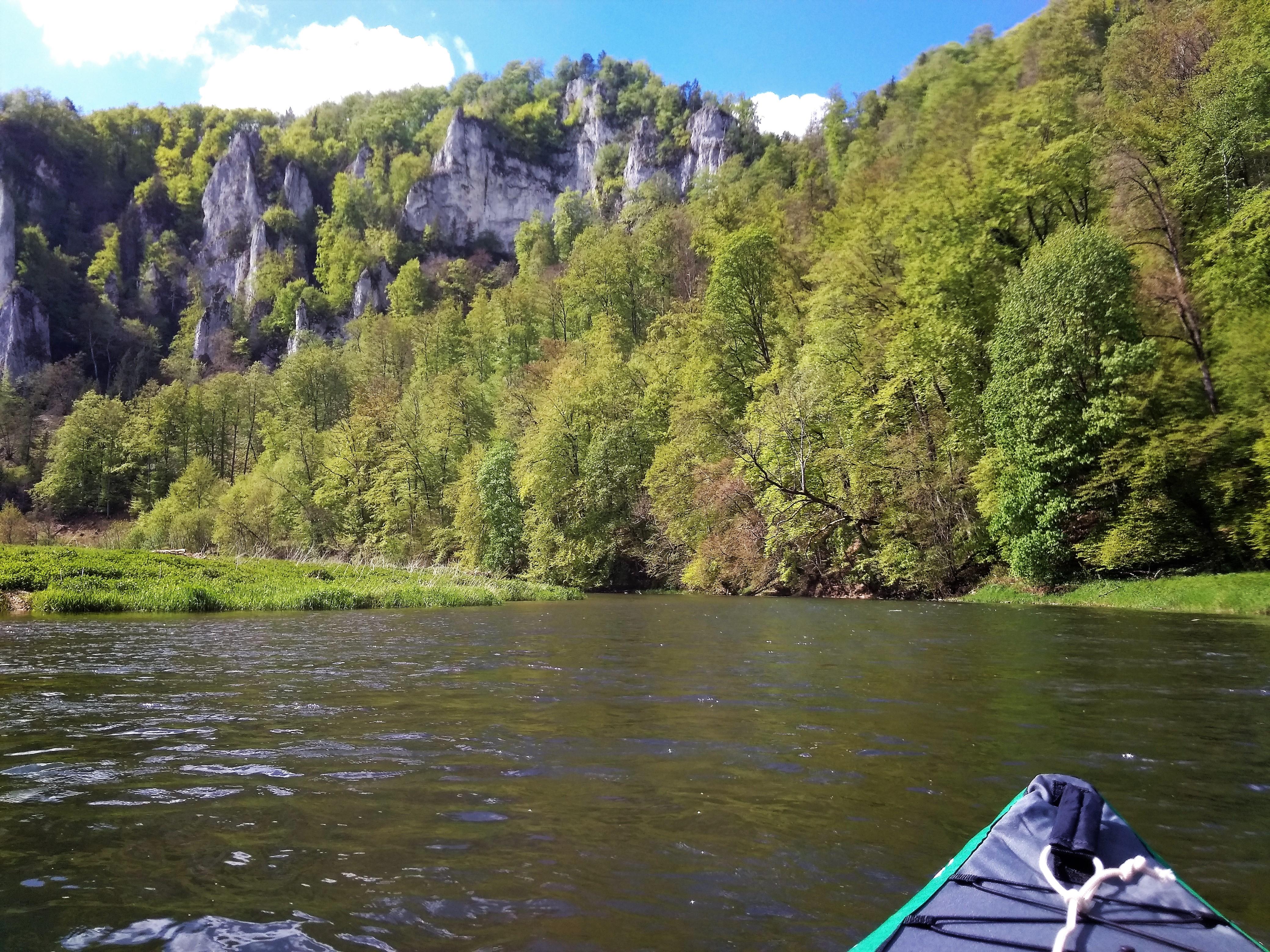 kayak trip day 4: Hausen im Tal to Sigmaringen Danube Donau river canoe paddling Germany Baden-Württemberg