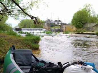kayak trip day 5 jakobstal dam weir wehr danger danube river drop canoe paddle portage umtragestelle munderkingen
