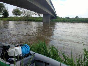 Donau danube dettingen arrival canoe kayak paddle bridge Berg ehingen