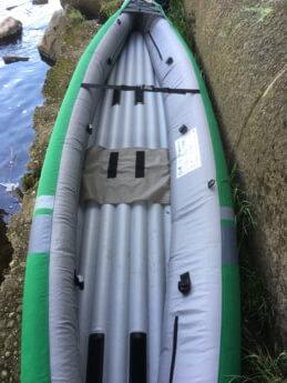 asymmetrical inflatable kayak Sevylor unbalanced boat Danube donau trip paddle kayak canoe