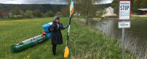 Immendingen to Mühlheim Germany kayak trip canoe mud wet accidental swim Danube Donau