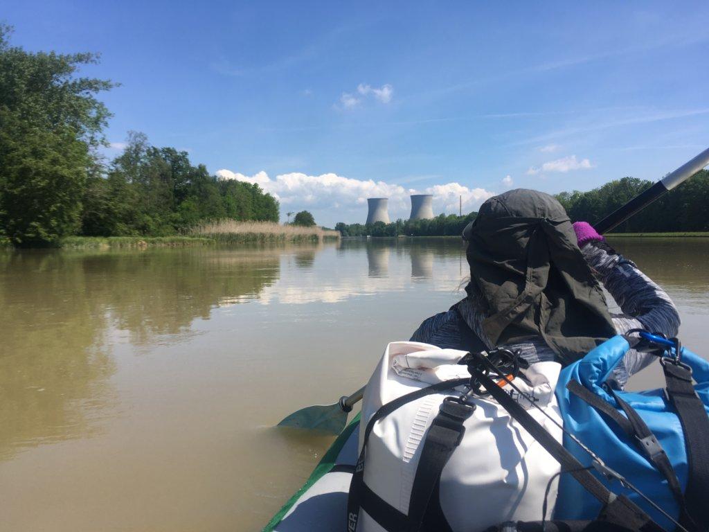 Kayak Trip Day 9 - Günzburg to Dillingen an der Donau Gundremmingen Nuclear Power Plant