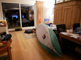 Kayak Trip Day Zero Danube Donau sevylor adventure plus inflatable canoe paddle fin