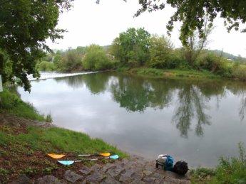 Kayak trip day 5 sigmaringendorf wehr weir dam rapids kayak canoe paddle Danube Donau danger