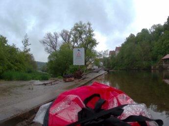 Kayak trip day 5 Scheer Wehr weir dam 1 mill mühle Baden-Württemberg donautal donau danube