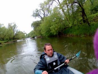Kayak trip day 5 Sigmaringen to Munderkingen Jakobstal wehr weir dam water levels pegel low shallow canoe kayak