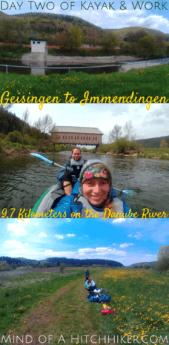 Kayak&work day 2 paddle kayak canoe geisingen immendingen germany baden-württemberg schwarzwald black forest danube donau river