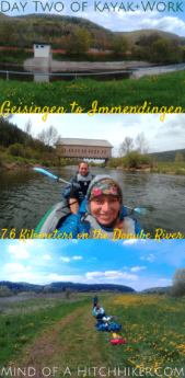 Kayak&work day 2 paddle kayak canoe geisingen immendingen germany baden-württemberg schwarzwald black forest danube donau river replacement