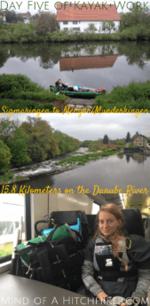 On the fifth day of our long-distance kayaking trip, we encountered some bad weather. This was one of the toughest days in the trip and the only day we quit earlier than expected. #Donau #Sigmaringen #Mengen #Munderkingen #BadenWürttemberg #Germany #Deutschland #Danube #kayak #canoe #Swabia #Schwaben #paddling #river #Europe #digitalnomad #travel #journey #adventure #outdoors