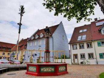 Arena gästehaus Geisingen quelle fountain Baden-Württemberg Germany Deutschland süden danube donau river