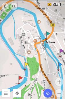 Open street maps contributors Scheer Baden-Württemberg South Germany Danube Donau wehr weir dam river bend portage umtragestelle munderkingen