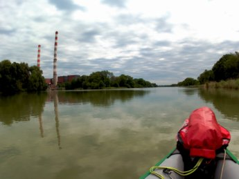 14 Day 13 Ingolstadt to Vohburg kayak canoe lock sluice self-service