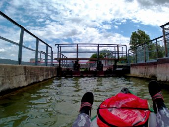 22 Day 13 Ingolstadt to Vohburg kayak canoe lock sluice self-service