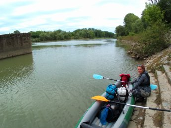 4 Day 13 Ingolstadt to Vohburg kayak canoe lock sluice self-service