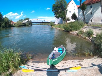 Kayak trip day 17 Friesheim to Straubing Bavaria Germany paddle canoe inflatable zucchini