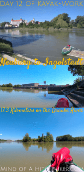 On the 12th day of our paddling trip, we reached the milestone of Ingolstadt. Even though we wouldn't participate in the Tour International Danubien, this is the city where the world's longest organized kayak trip starts from. #Neuburg #Ingolstadt #Bavaria #kayak #canoe #paddling #Donau #Danube #Germany #Deutschland #river #Europe #DigitalNomad #ecotravel #greentravel #journey #adventure #outdoors #travel #castle