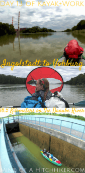On day 13, we paddled our inflatable canoe out of Ingolstadt to Vohburg. We even used a self-operated lock! #Ingolstadt #Vohburg #Bavaria #kayak #canoe #paddling #Donau #Danube #Germany #Deutschland #portage #Europe #DigitalNomad #journey #adventure #outdoors #travel #lock #locks #sluice