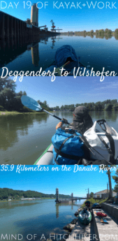 On the 19th day, we paddled down the Danube on a very hot day from Deggendorf to Vilshofen in Bavaria. There was lots of professional shipping traffic on the river. #Deggendorf #Vilshofen #VilshofenanderDonau #Bavaria #Germany #Danube #Zucchini #river #travel #digitalnomads #nomadic #slowtravel #ecofriendly #zeroemissions #Europe #summer #heatwave #climatechange #childfree #coupletravel