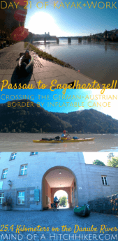 On the 21st day of our kayak trip on the Danube River, we crossed the border from Germany to Austria! As Passau is the three-river city, we first put our boat in the river Inn. #Donau #Inn #Ilz #Dreiflüssestadt #Passau #Germany #Bavaria #Deutschland #Bayern #confluence #river #Danube #Austria #border #bordercrossing #Engelhartszell #Europe #Schengen #Schengenzone #internationalriver