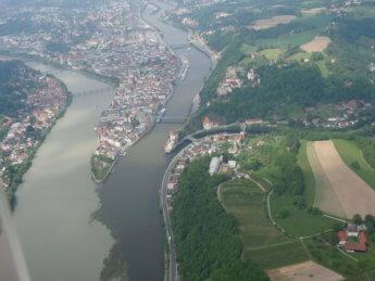 Passau danube donau inn ilz aerial view wikipedia