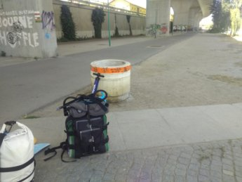 3 packing up luggage and dumpsterdived pump