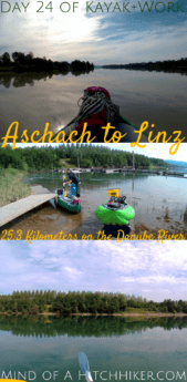 Day 24: we took Zucchini out for another paddling day from Aschach to Linz. Linz is the third-largest city of Austria by population and an excellent place for us to pack up our kayak and get some work done for a week. #Zucchini #digitalnomad #digitalnomads #locationindependent #locationindependence #remotework #remoteworking #travelandwork #Austria #Aschach #Linz #Österreich #Osterreich #AschachanderDonau #Donau #Danube #kayak #canoe #upperaustria #oberösterreich