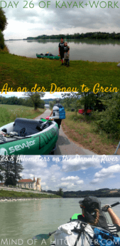 On the 26th day, we paddled from Au an der Donau to Grein. The father-son duo that we'd paddled with the previous day also had the exact same program. We also c #Donau #Danube #kayak #canoe #AuanderDonau #Grein #Au #digitalnomad #Austria #Österreich #Osterreich #Neuhaus #Schloss #castle #Europe #Mühlviertel #upperaustria #oberösterreich #Wallsee #portage
