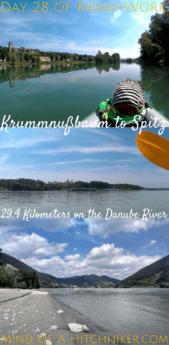Kayak+work day 28 Krummnußbaum to Spitz pinterest pin