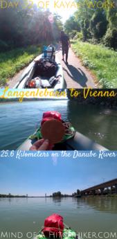Kayak+work day 32 pinterest pin Langenlebarn Vienna Austria Danube