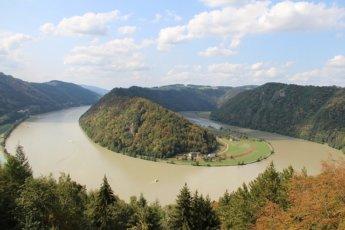 Danube Donau loop Schlögen Schlögener Schlinge Austria Oberösterreich river bend autumn pixabay